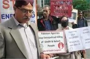 sindhis join baloch protest against pakistan in toronto