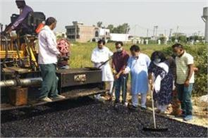 road work starts in kathua housing colony
