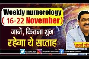 weekly numerology