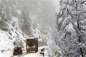 snowfall high altitude areas of jammu and kashmir and ladakh