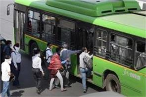 passengers will be able to travel on all seats in the bus from today in delhi