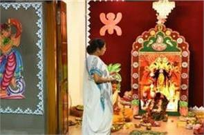 due to corona kali puja was done at mamta banerjee residence with simplicity