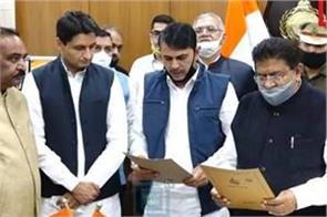 induraj narwal sworn in as mla post oath
