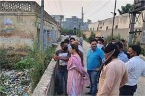 nimisha raised the issue of garbage