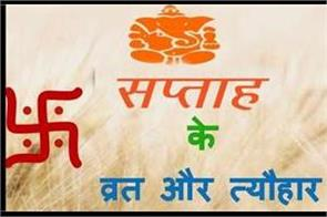 fast and festival from 22th november from 28 november in hindi