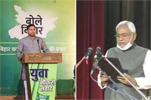 bihar nitish sworn in as cm for 7th time tejashwi yadav wishes