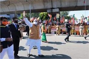 amit shah was seen roaming the streets with supporters regardless of protocol