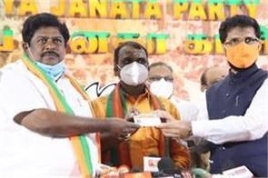 former dmk leader joined bjp