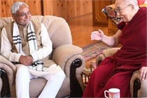 dalai lama congratulates nitish kumar on victory in bihar assembly elections