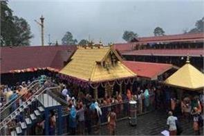 kerala the doors of the sabarimala temple open