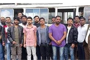 14 indian released by yemen houthis fly back home via dubai