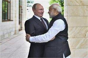 russian president putin congratulated pm modi on new year