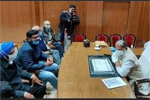 digvijay chautala arrives to meet anil vij regarding farmers