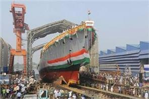 indian navy s increased power warship  himgiri  launched in kolkata