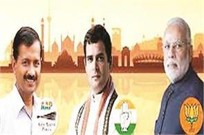 bjp aap and congress will be electoral in delhi
