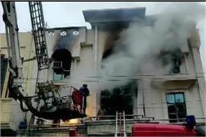 delhi overcoming fire found in patparganj printing press 1 dead