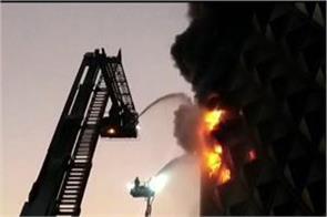 surat a massive fire in the 10 storey textile market