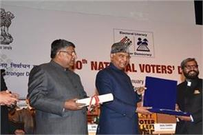 dr s karuna raju gets best election officer award in country