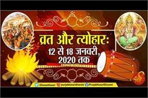 12 to 18 january 2020 fast and festivals