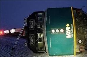train derailed in canada 13 injured
