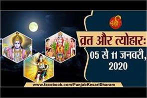 05 to 11 january 2020 fast and festivals