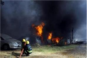 14 cars gutted in fire at delhi vivek vihar