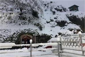 snowfall mountains kashmir vaishno devi bhawan rain plains
