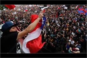 hundreds of people took to the streets against the police action in chile