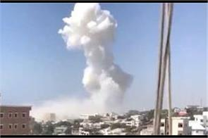 large explosion near somalia parliament security source