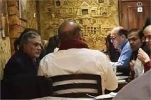 photo of  critically ill  nawaz sharif in a restaurant in london