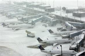 more than 800 flights canceled at chicago airports due to snow