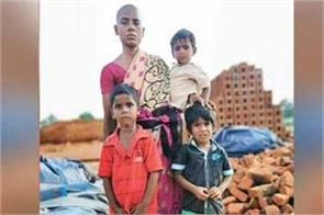 a mother sells her hair for 150rs to feed her 3 kids