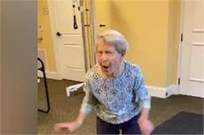 91 year old woman grooving on peppy dance song video viral