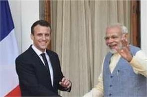modi talks to french president discusses international situation
