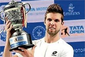 jiri wesley becomes men s singles champion at tata open maharashtra