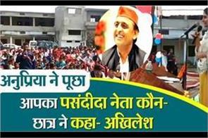 anupriya asked which of your favorite leaders students said akhilesh yadav