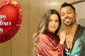 indian cricketer celebrating valentine s day hardik shares photo with natasha