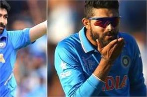 bumrah slipped from top icc odi rankings jadeja climbed seven places