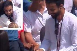the two hearts met during the india england match ecb shared video