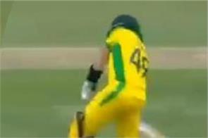 ball slips out of dale steyn s hand steve smith hits it for four