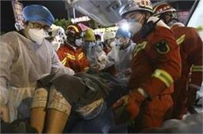 man rescued after 69 hours in rubble of fallen china hotel