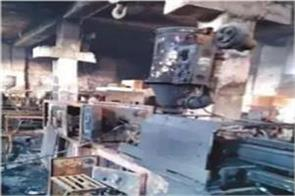 plastic component factory fire burning raw material worth millions of rupees