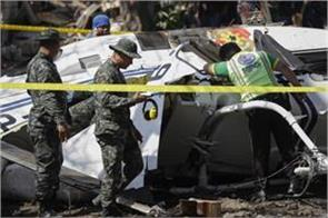 helicopter crash injures philippine police chief and seven others