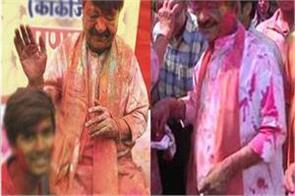 kailash vijayvargiya dyed color holi took dig congress digvijay singh