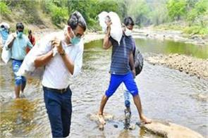 kerala mla collector trek with supplies to help tribal