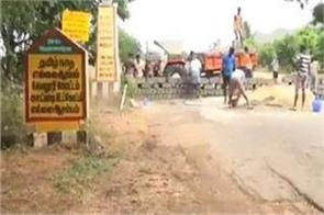 decision to seal tamil nadu andhra border by building a wall on the road back