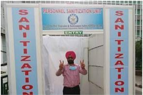 aiims personal sanitizer chamber will sanitize entire body in 25 seconds