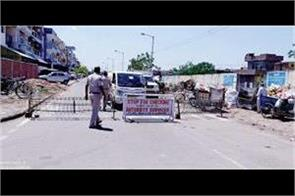 roads of indira and rajiv colony are sealed