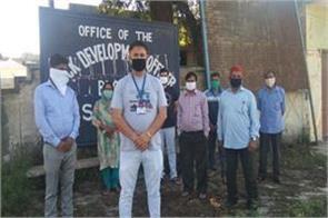 sarpanchs boycott mask distribution in vijaypur
