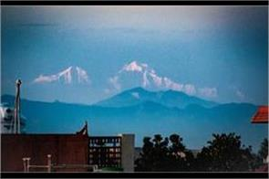 snowy peaks of the himalayas also seen from saharanpur